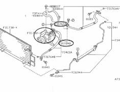 AC Compressor O-Ring (x1) - Category: Engine - 73176-B - 73796KC010