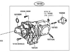 Water Pump ASSY - Category: Engine - 16100 - 16100-79226
