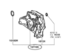 Water Pump Front - Category: Engine - 16110C - 16110-79135