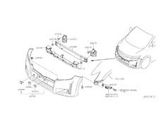 Bracket, Front Bumper Side RH - Category: Exterior - 62673P-62226-1JB0A