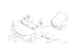 Front Bumper Grommet (x2) - Category: Exterior - 62010P-01281-01431