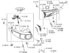 RH Tail Lamp - Back door side - Category: Exterior - KB8B-51-3F0B