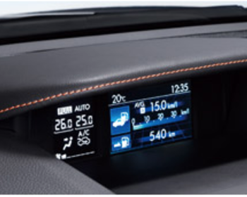 Subaru - Multi Function Display Hood - Orange Stitch