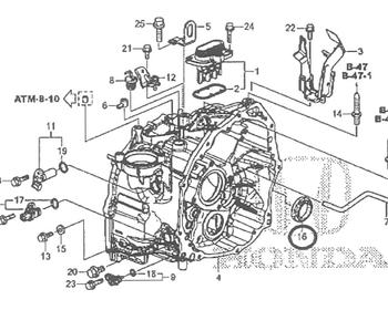 Honda - Oil Seal Transmission Case Side