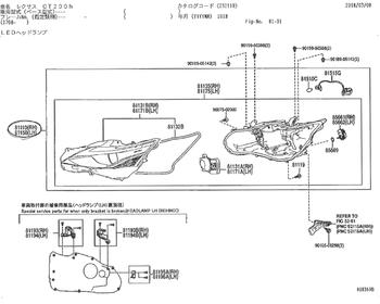 Lexus - Head Lamp ASSY RH