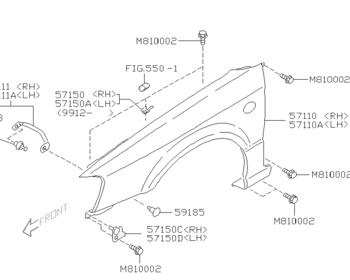 Subaru - Front Fender LH