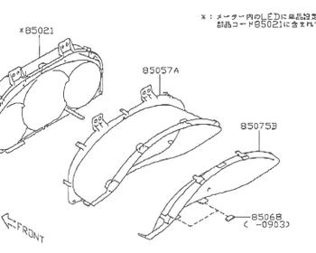 Subaru - Visor Combination Meter (#85057A)