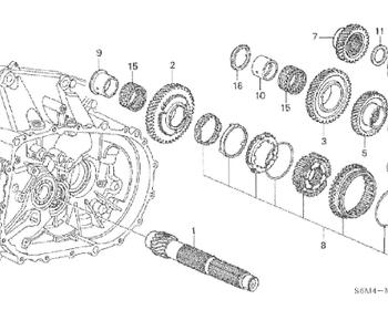 Honda - Gear Counter Shaft Fourth