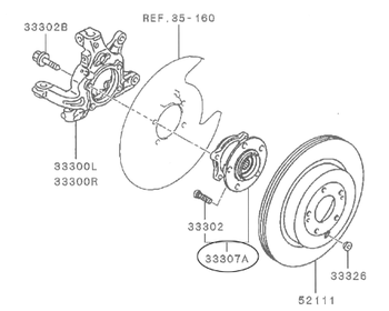 Mitsubishi - Rear Hub Right or Left (1 only)
