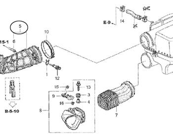 Honda - Tube COMP Air Flow