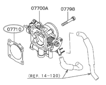 Mitsubishi - Throttle Gasket