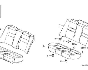 Honda - Cover Rear Seat Back (Item #2)