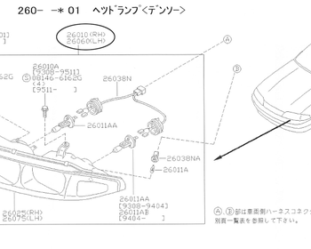 Nissan - Head Light ASSY RH