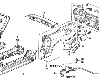 Honda - Rear Panel Assembly (item #15 in diagram)