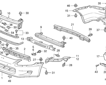 Honda - Front Bumper Reinforcing Beam (#9 in diagram)