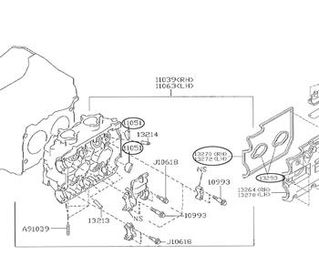 Subaru - Rocker Cover Gasket LH