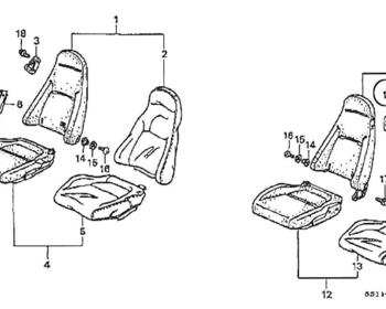 Honda - Seat Belt Guide (NH133L Grey) (#11)