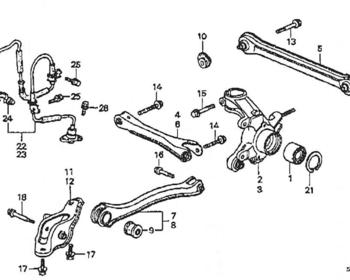 Honda - Bolt, Rear Lower Arm 12x72 (2 required) (#16)