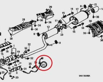 Honda - 21 - O2 Sensor