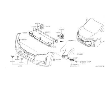 Nissan - Front Bumper Screw
