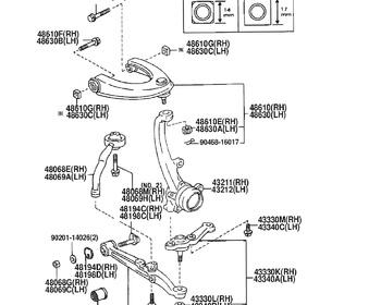 Toyota - Bush, Front Lower Arm, No.1 RH