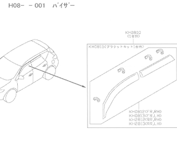 Nissan - Side Window Visor Set