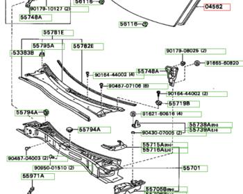 Toyota - Dam Kit, Windshield Glass