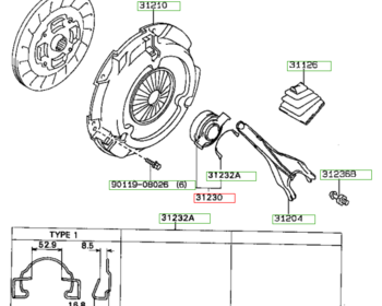 Toyota - Bearing Assy, Clutch Release