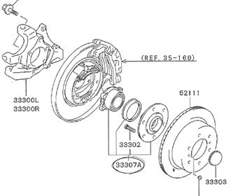 Mitsubishi - Hub ASSY Rear Wheel