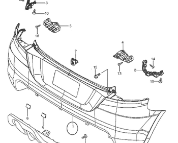 Suzuki - Rear Bumper Screw (#14)