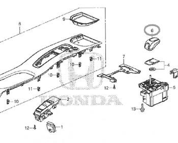 Honda - Knob COMP Select