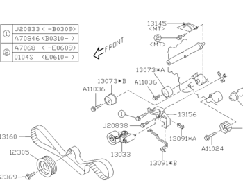 Subaru - Idler Complete Belt